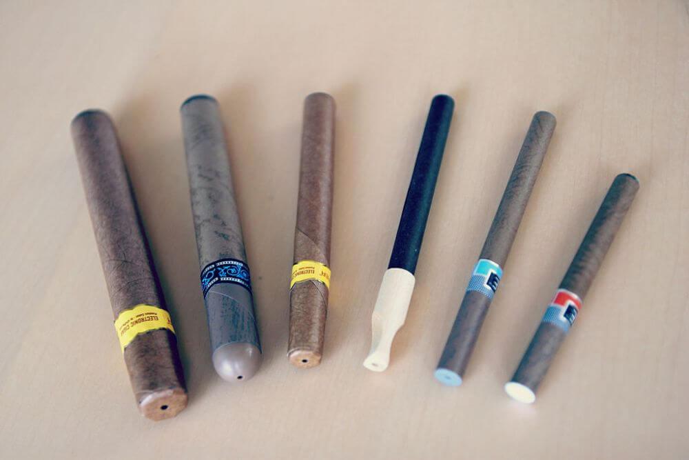 różne rodzaje e-papierosów