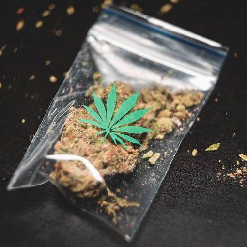 Opakowanie marihuany, palenie niezdrowe